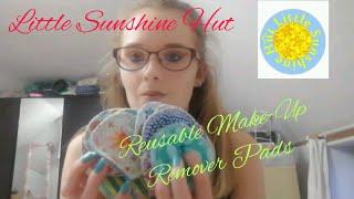 EXTRA!!! LITTLE SUNSHINE HUT   REUSABLE MAKEUP REMOVER PADS HAUL!!!