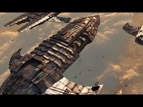 Spaceship Battle in Atmosphere