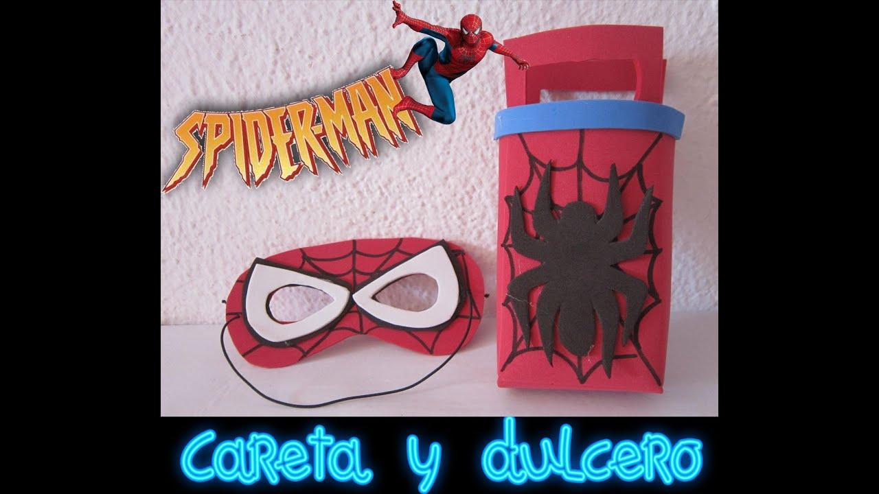 DIY Como hacer una careta y dulcero de spiderman. Super heroes ...