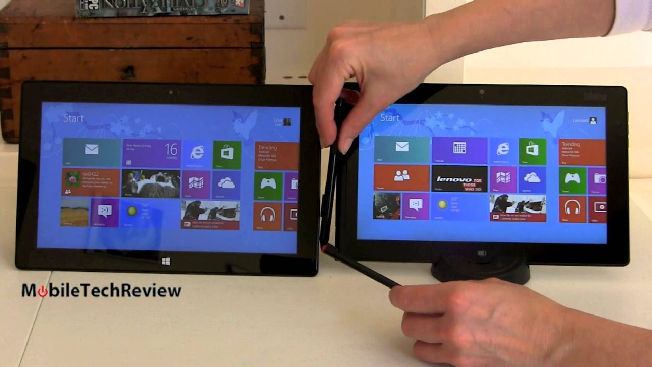 Microsoft Surface Pro vs Lenovo ThinkPad Tablet 2 ...