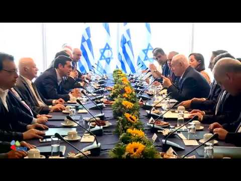 PM Netanyahu and Greek PM Tsipras at Israel-Greece G2G Meeting