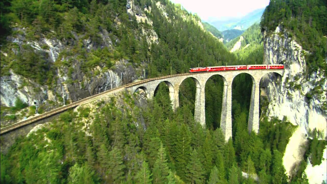 "HD Travel-Switzerland  Real Rail Adventures: ""Albula Bernina Railway"""