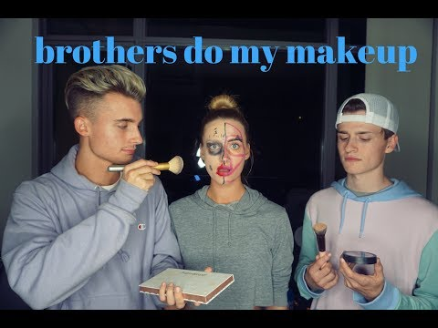 MY BROTHERS DO MY MAKEUP ft. WeeklyChris & Crawford Collins | Karisma Collins