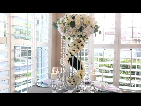 DIY Flower Stand Cascade Wedding Centerpiece for Wedding Table Decorations