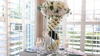 Diy Flower Stand Cascade Wedding Centerpiece For Wedding Table Decorations