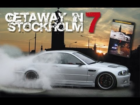 (HD) Getaway in stockholm 7 - BMW M3 E46 CSL (Supercharged) and BMW M5 E39