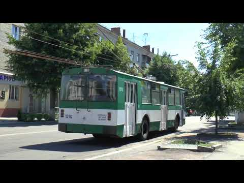 ZHYTOMYR UKRAINE TROLLEYBUSES AUG 2017