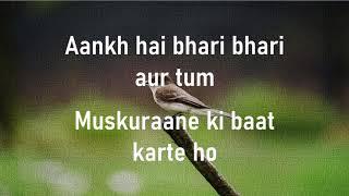 Aankh hai bhari bhari  Tum Se Achcha Kaun Hai  Kumar Sanu  Lyrics