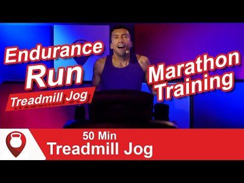 Endurance Run | 50 Min Treadmill Jog Marathon Training | Fitscope Studio