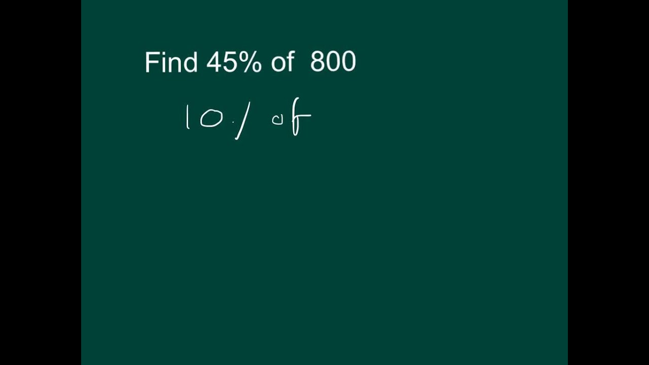 how to work out percentage of a quantity