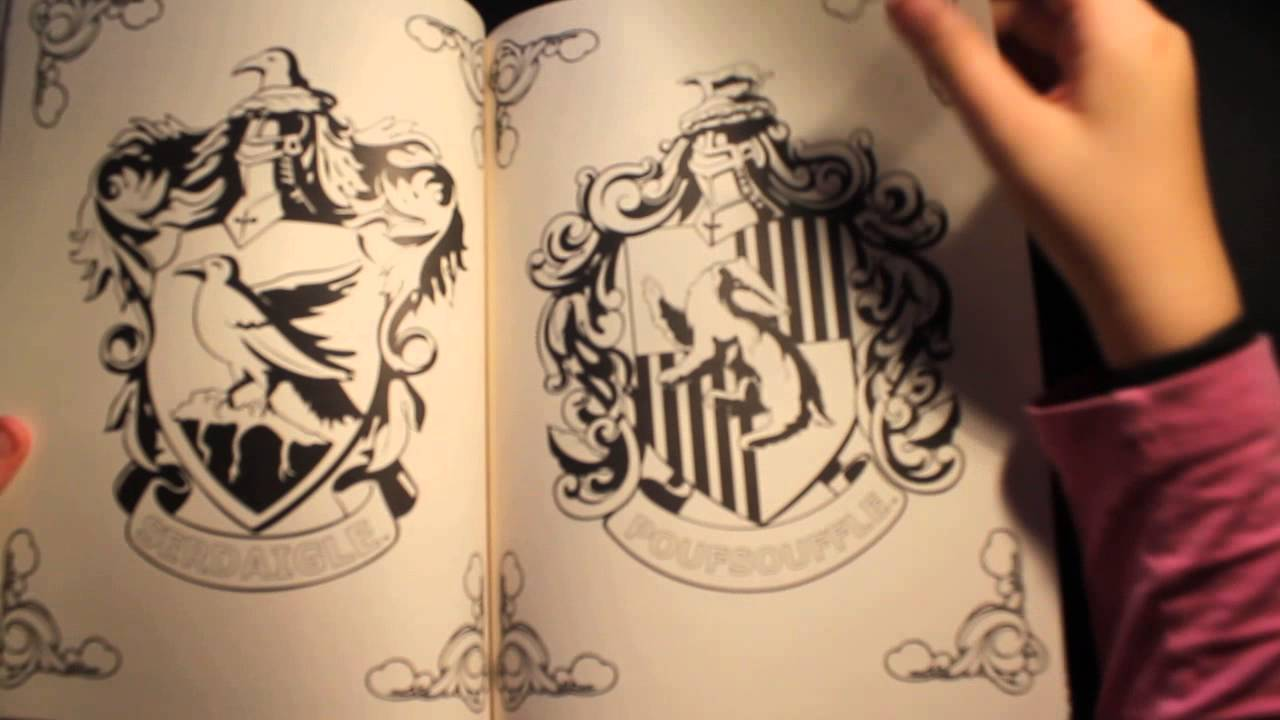 Livre de coloriage harry potter de hachette youtube - Harry potter dessin ...