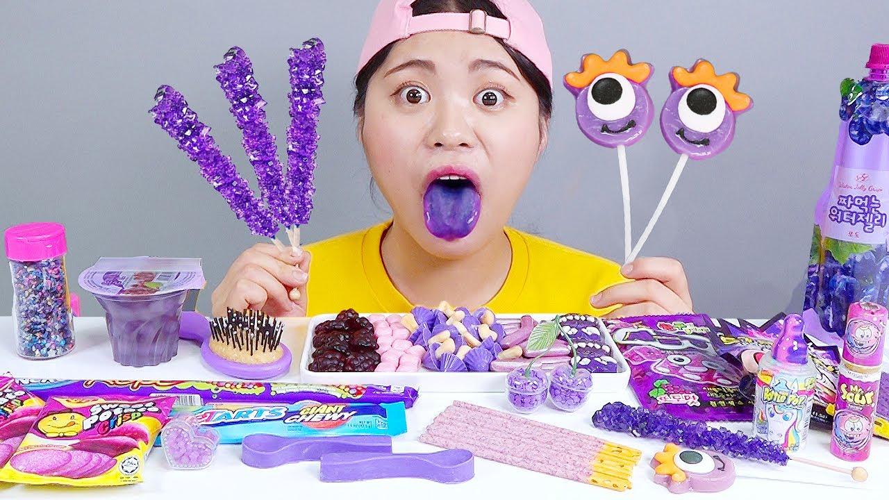 Download Purple Food Dessert Ice cream Mukbang DONA