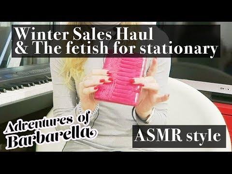 Winter Sales Haul Pt. I : Smythson of Bond st, MiH jeans... (ASMR with new mic setup)