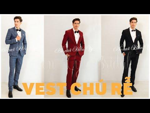 BST Áo Vest Chú Rể Mẫu Mới Nhất Tại Hien Vy Bridal Cho Mùa Cưới 2019 | Vest Tuxedo
