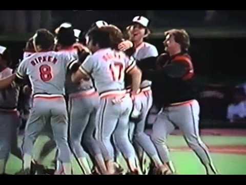 Cal Ripken, Jr. Catches Last Out, 1983 World Series! Baltimore Orioles Beat Phillies!