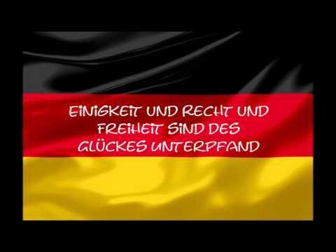 Deutsche Nationalhymne mit Lyrics