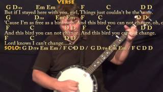 Freebird - Banjo Cover Lesson with Chords/Lyrics