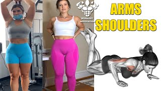 Best SHOULDER ARMS Workout for Women 5 Exercises Female Fitness Motivation