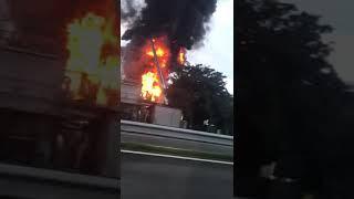 Incendio en la fábrica de celulosa de Ence