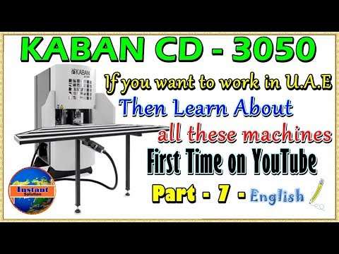 CD 3050 Kaban upvc Corner Cleaning Machine Review & Maintenance English Part 7