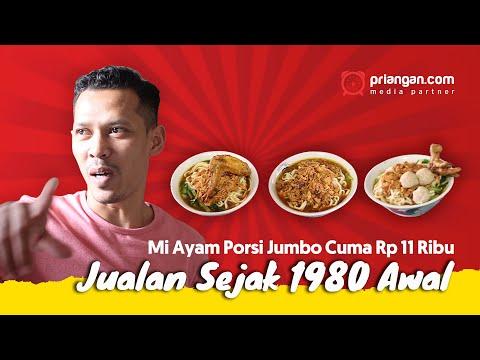 Mi Ayam Porsi Jumbo Cuma Rp11 Ribu, Jualan Sejak 1980 Awal