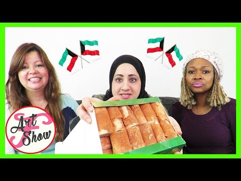 Trying Kuwaiti Snacks | Anything Fatema | Fatema's Art Show