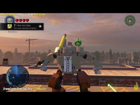 Lego Marvel Avengers: Manhattan Stan Lee in Peril Locations & I am Iron Stan Trophy/Achievement- HTG