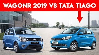 Maruti Wagon R 2019 vs Tata Tiago Comparison :Price,Mileage ,Specs