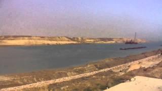 حفر وتكريك وملاحة ونقل لمياه النيل فى موقع واحد بالمدخل الجنوبي لقناة السويس الجديدة