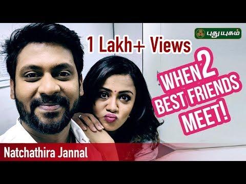 When 2 Best Friends (Rio Raj & Anjana) Meet! Natchathira Jannal | Puthuyugam TV