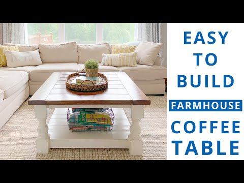How to Build a Square Farmhouse Coffee Table | DIY Project | Woodworking Project