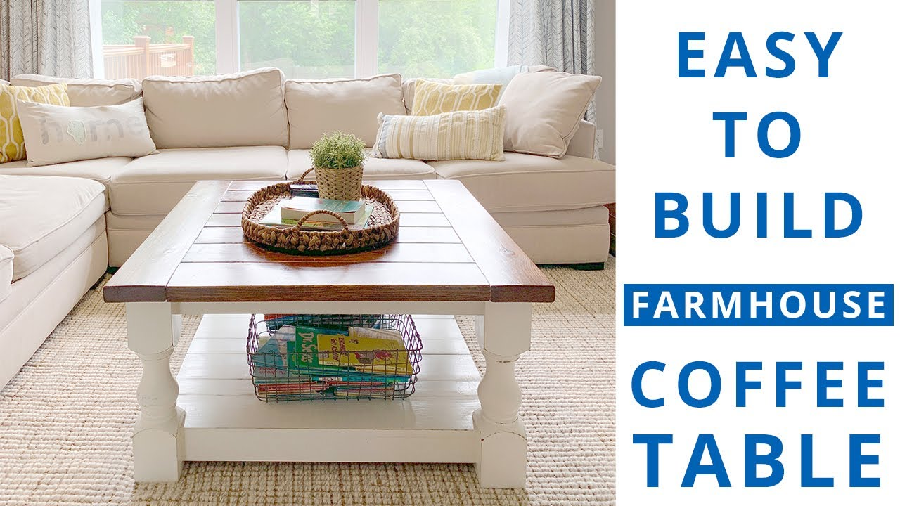beginner woodworking project build a farmhouse coffee table diy project