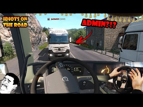 ★ IDIOTS on the road #65 - ETS2MP   Funny moments - Euro Truck Simulator 2 Multiplayer