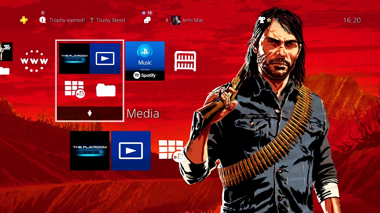 Red Dead Redemption 2 Dynamic Theme (FREE PSN STORE)