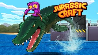 Minecraft Jurassic Craft - HOW TO TAME A WATER DINOSAUR!