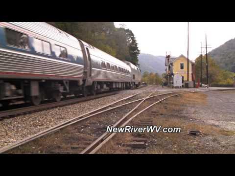 "Amtrak ""The Cardinal"" at Thurmond, WV"