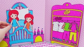 Twin Paper Dolls in the Princess Bedroom