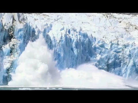 Huge glacier breaks off in perito moreno glacier, patagonia | climate change 2k18 | shockwave (1/2)