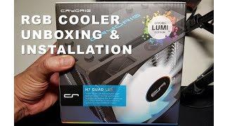 cryorig h7 quad lumi rgb cpu cooler am4 ready part 1 unboxing installation