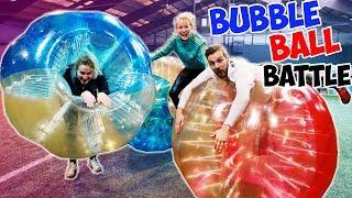 XXL BUBBLE BALL BATTLE CHALLENGE Kaan vs Kathi vs Nina | Wer schmeißt die anderen um? Extreme Soccer