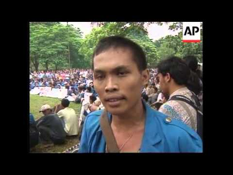 INDONESIA: JAKARTA: STUDENTS STAGE ANTI GOVERNMENT PROTEST