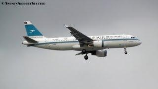 State of Kuwait A320-200 9K-AKD - Landing 16L Sydney Airport - Comoro International WYDP