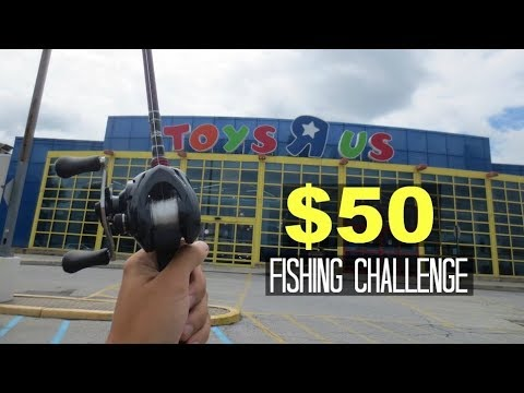 $50 Toys R Us Fishing Challenge!! (Surprising!)