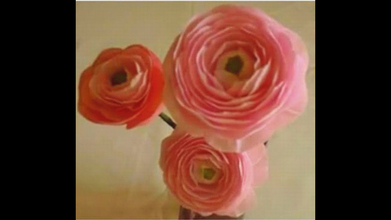 How To Make Paper Flowers Ranunculus Persian Buttercup Flower