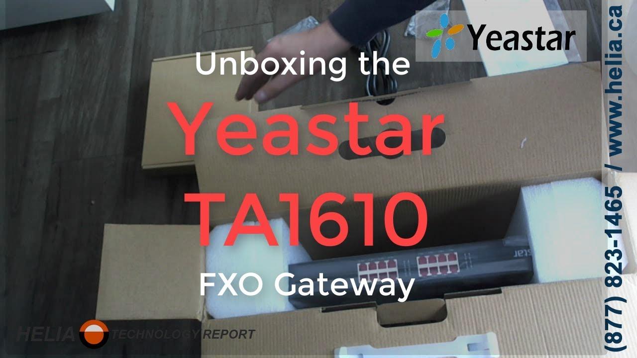 Unboxing the Yeastar TA1610 16 Port FXO Gateway