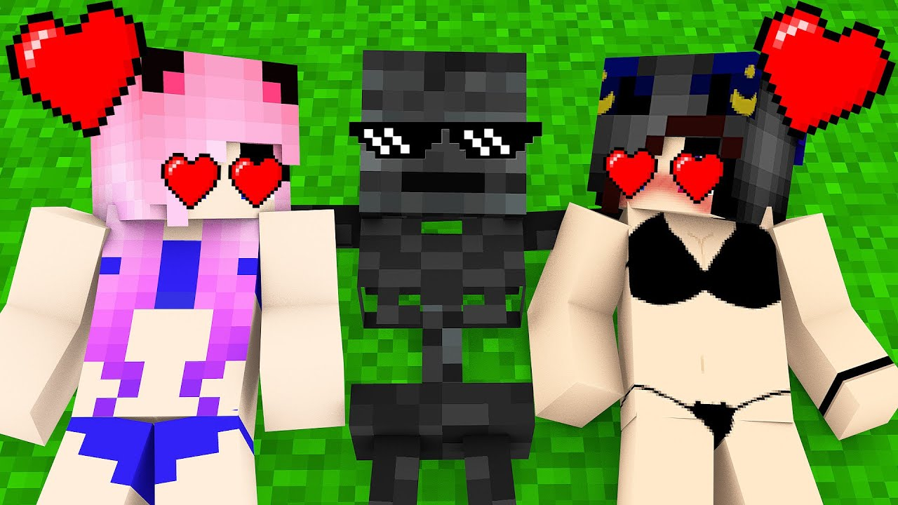 Monster School : TWINS WITHER FAMILY LIFE CHALLENGE - Minecraft Animation