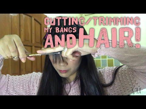 How I cut my bangs and hair
