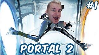 №1019: ПРЫГАЮ В ТЕЛЕПОРТЫ В ПОРТАЛ 2 - Portal 2 #1