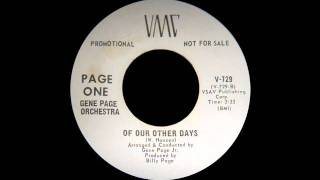Gene Page Orchestra - Of Our Other Days