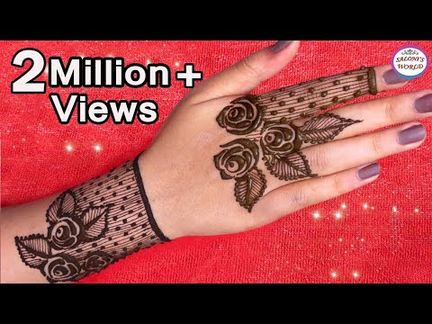 How To Apply Simple Arabic Mehndi Designs For Back Hands | Jewellery Style Henna by Jyoti Sachdeva.